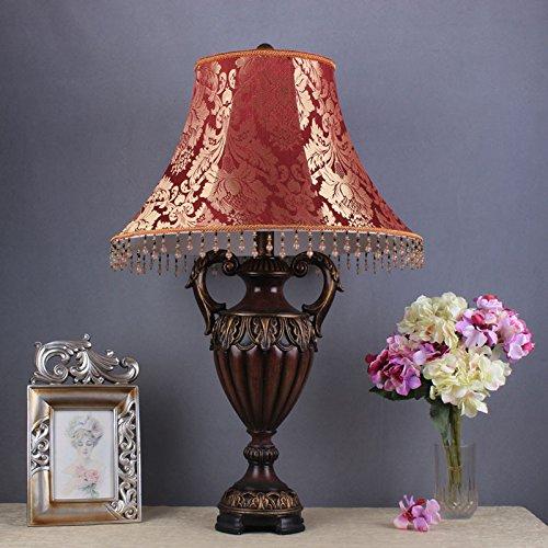 YMXJB Kreative dekorative ResinTable Lampen Schlafzimmer Lampe Nachttisch Lampe lesen Lampe Wohnzimmer-Heim Büro Hotel dekorative Beleuchtung