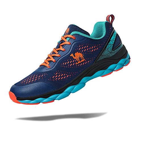 Camel Mens Trail Mesh Running Shoes,Athletic Casual Fashion Sneakers Lightweight for Sport Gym Blue