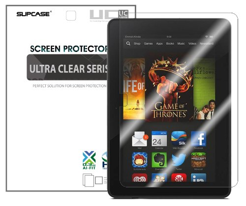 """SUPCASE Premium Ultra Clear Screen Protector for Amazon All-New Kindle Fire HDX 7 inch (2 Pack, Bubble Free Installation Instruction Included, Not Compatible with All New Kindle Fire HD 7""""/Kindle Fire HD 7"""" 2012 Version/Kindle Fire HDX 8.9"""")"""