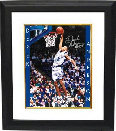 Signed Derek Anderson Photograph - Kentucky Wildcats 8x10 Custom Framed #23 name on sides) - Autographed College Photos -