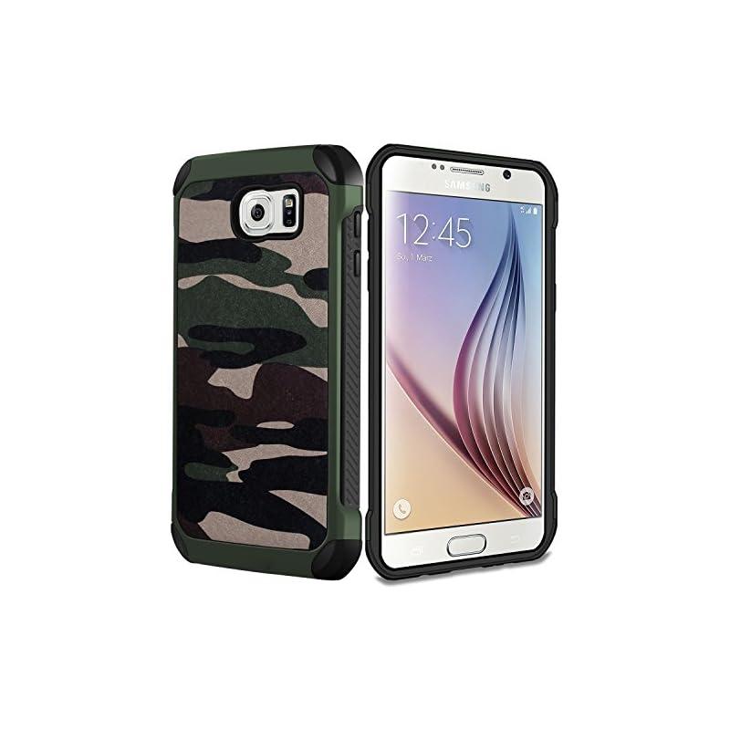 Galaxy S6 Case Camouflage Case,Ultra Hyb