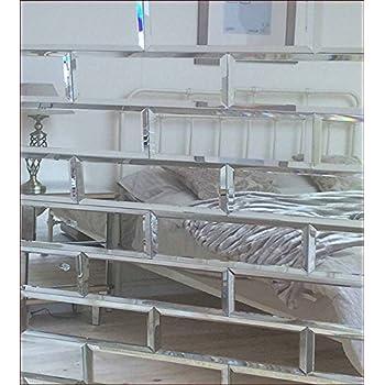 Squarefeet Depot 4x12 Beveled Crystal Mirror Tile Walls Backsplashes