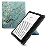 WALNEW Amazon Kindle Oasis Stand Case Cover Kindle Oasis Origami Case--Ultra Lightweight PU Leather Smart Cover for 7 Inch Kindle Oasis 2017, 9th Generation (Tree and Flowers)