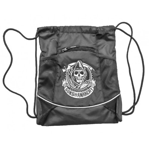 Price comparison product image Sons of Anarchy - Reaper Logo Drawstring Bag 15 x 19in