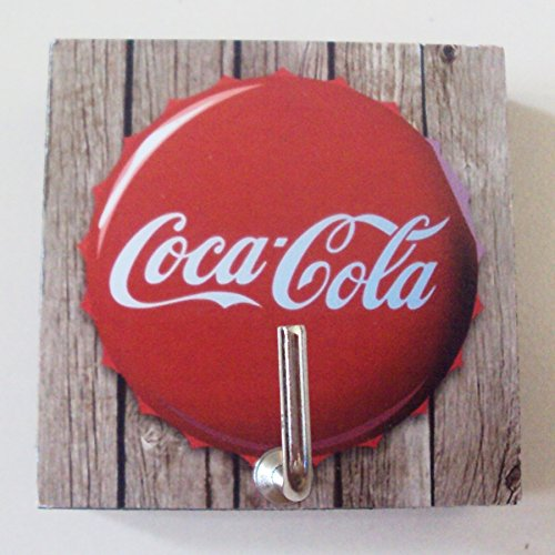 Agility Bathroom Wall Hanger Hat Bag Key Adhesive Wood Hook Vintage Coca Cola Soda's (Cola Bear Costume)