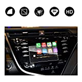 RUIYA 2018 Toyota Camry 7-in in-Dash Screen Protector, HD Clear Tempered Glass Car Navigation Screen Protective Film, AXVH70 AXVH70N Compatible with LE SE (7-Inch)