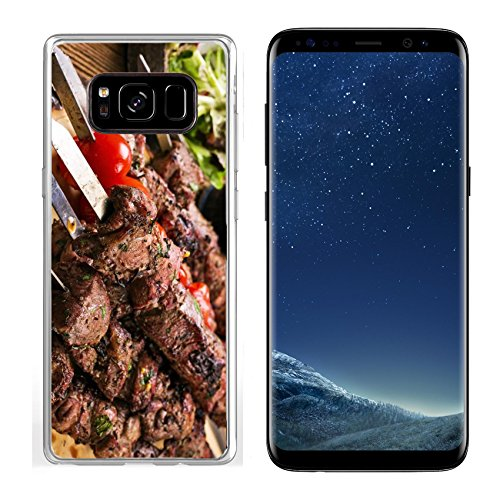 Luxlady Samsung Galaxy S8 Clear case Soft TPU Rubber Silicone IMAGE ID: 25976275 lamb kebab