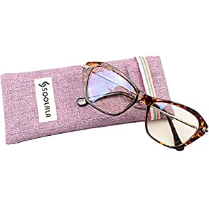 SOOLALA Womens Quality Fashion Alloy Arms Cateye Customized Reading Glasses, Tortoise, +1.5D