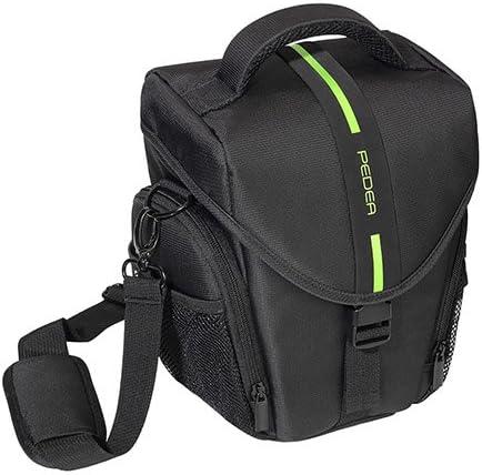 Pedea SET012-65060302-0008 - Funda para cámara Nikon D5100, D3100 (Incluye lámina Protectora de Pantalla, Correa, 3 Compartimentos para Accesorios y Espacio para cámara y Objetivo), Color Negro: Amazon.es: Electrónica