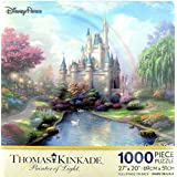 Disney Parks A New Day at the Cinderella Castle Thomas Kinkade 1000 Piece Jigsaw Puzzle by Disney