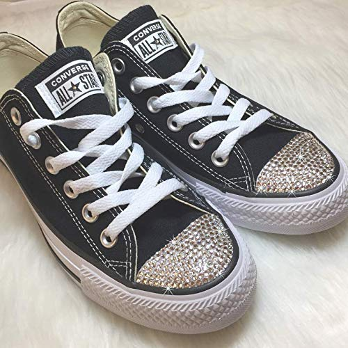 f49a24c1a27b2c Amazon.com  Women s Blinged Out Shoes All Star Chucks Custom BLING ...