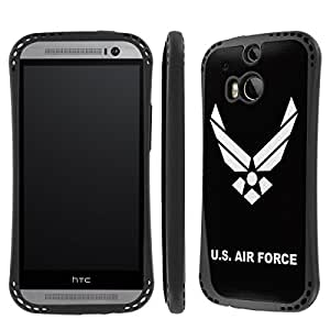NakedShield HTC One (M8) US Airforce Heavy Duty Shock Impact Armor Art Phone Case