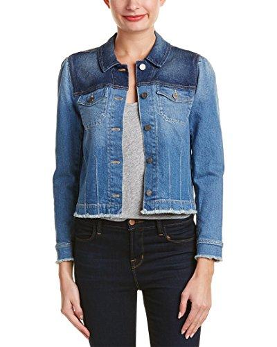 (Rebecca Taylor Women's Patchwork Denim Jacket, Denim Combo, 12)