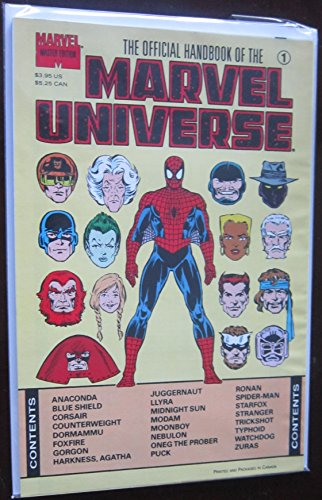 Official Handbook of the Marvel Universe Master Edition #1