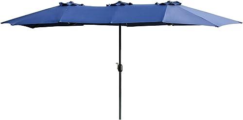 LOKATSE HOME Double-Sided Market Patio Outdoor Umbrella