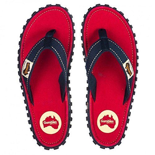 Canvas Coast Flip Unisex Manly Islander Red Flops Gumbies fBFqSnw