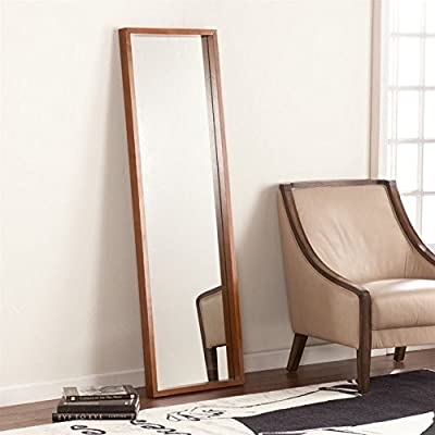 Southern Enterprises Jennings Leaning Floor Mirror - WARNING: This product can expose you to chemicals including lead, which is known to the State of California to cause cancer and birth defects or other reproductive harm. For more information go to www.P65Warnings.ca.gov/furniture Includes two keyhole hangers and two brackets for wall mounting Full length mirror - mirrors-bedroom-decor, bedroom-decor, bedroom - 51PWwQ2wZPL. SS400  -