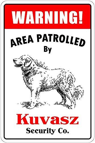 Kuvaszによるパトロール 金属板ブリキ看板警告サイン注意サイン表示パネル情報サイン金属安全サイン