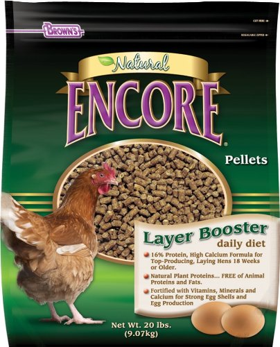 F.M. Brown's Encore Natural Egg Layer Booster Daily Diet for Pets, 20-Pound by F.M. Brown's