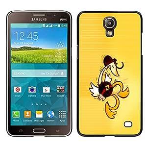 Samsung Galaxy Mega 2 - Metal de aluminio y de plástico duro Caja del teléfono - Negro - Western Dancing Duck - Funny