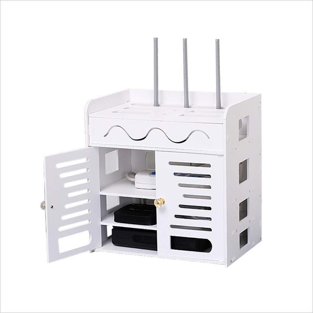 FU HOME TV Set-top Box Storage Rack, Wall-mounted Router Rack Free Punching by FU HOME