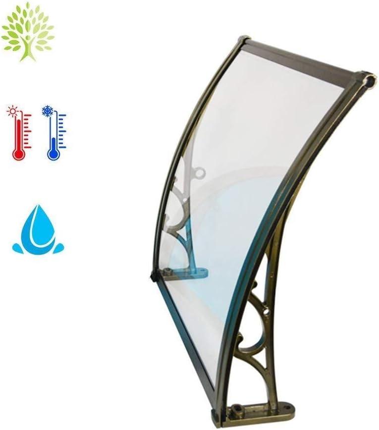 ひさし 雨よけ テラス オーニング雨よけ/フロントドアポーチのためのドアキャノピーポーチシェルター、PCポリカーボネート窓キャノピーカバー、 - 3サイズ (Color : A, Size : 60×120cm)
