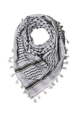 Hirbawi Premium Arabic Scarf 100% Cotton Shemagh Keffiyeh 47