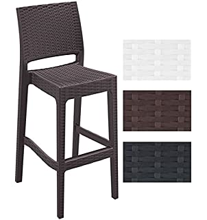 Simple Clp Stackable Outdoor Bar Stool Jamaica Seat Height Cm Rattan Optic  Max With Rattan Bar Stools.