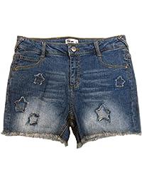 0c9ef779b Big Girls (7-16) Star Patch Denim Shorts Blue 12 · Epic Threads