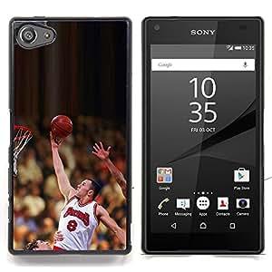 """Qstar Arte & diseño plástico duro Fundas Cover Cubre Hard Case Cover para Sony Xperia Z5 Compact Z5 Mini (Not for Normal Z5) (Raiser 8 Baloncesto"""")"""