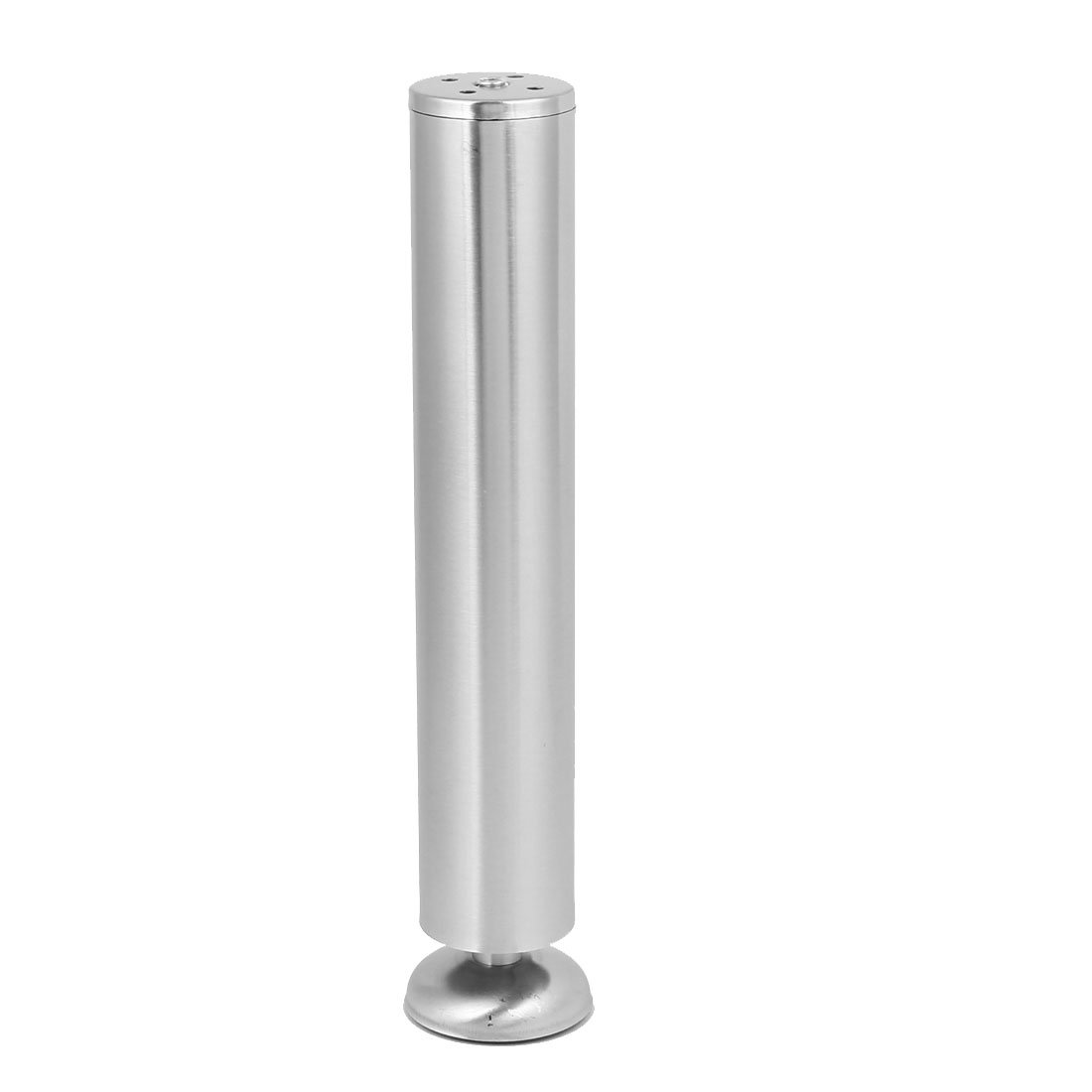 uxcell Cupboard Cabinet Metal Round Stand Adjustable Leg Feet Silver Tone 50mmx300mm