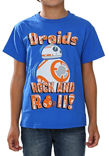 Star Wars Little Boys' the Force Awakens Bb-8 Droid T-Shirt, Royal Blue, 5/6