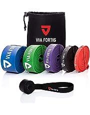 Via Fortis Premium Gummiband + Träningsinstruktioner och väska - gummiband, Pull-Up-band och Pull-Up-hjälp, fitnessband, träningsband för fitness & styrketräning
