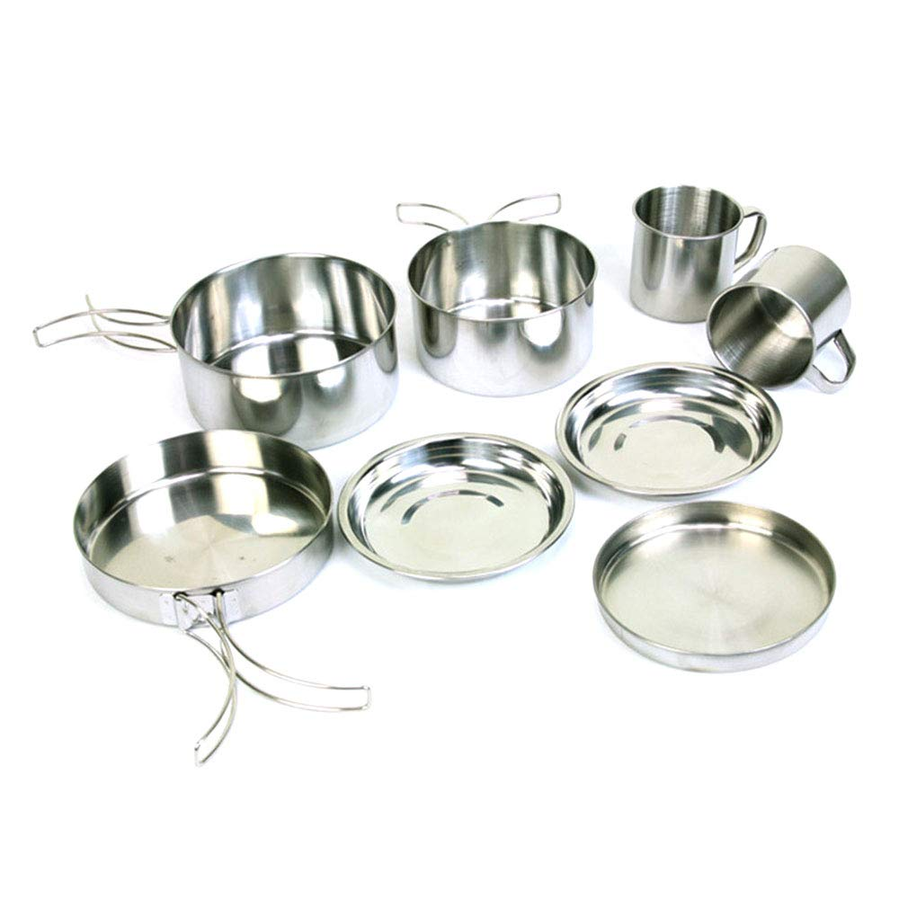Fdrirect Strong Camping Cookware Cooking Picnic Pot Survival Travel Bowl Stainless Steel by Fdrirect