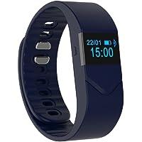 Rorsche 智能手环 心率监测,***监测,血氧监测,疲劳度监测,计步器,卡路里消耗,距离计算,睡眠监测,时尚运动健康手环 运动计步睡眠监控 运动时尚外观 M5 (深邃蓝)