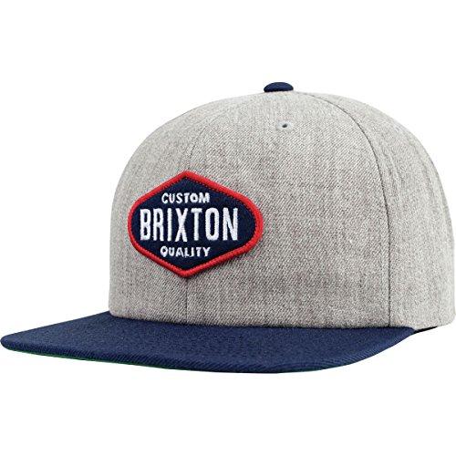 Brixton Men's Oakland Snapback, Light Heather Grey/Navy, One Size