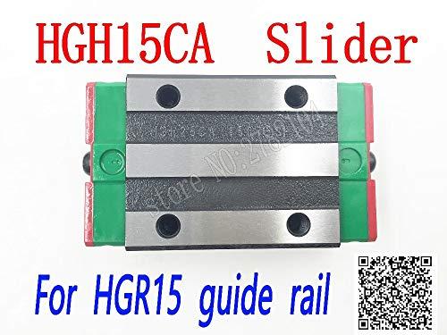 Ochoos HGH15CA HGW15CC Slider Block HGH15 CA HGW15 CA HGW15 CC Match use HGR15 Linear Guide for Linear Rail CNC DIY Parts - (Guide Length: HGH15ca, Color: Block Colour)