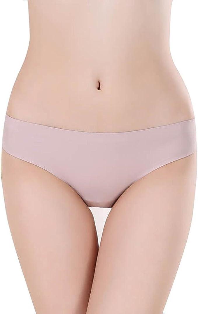 Fashion Lady Low Waist Underwear Ice Silk Seamless Women