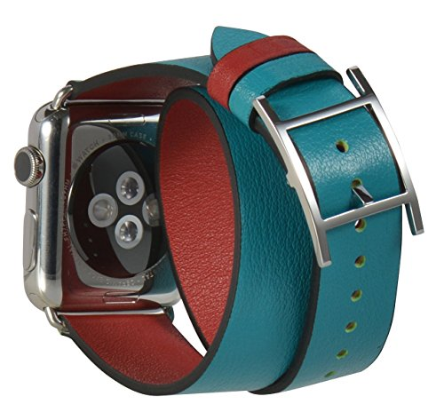 JSGJMY Double Leather Replacement Watchbands