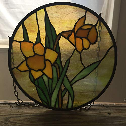Daffodil Stained Glass Panel - Stained Glass Daffodil