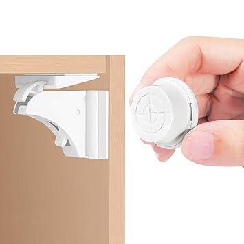 Cerraduras De Gabinete MagnéTico, 16 Cerraduras + 3 Llaves Cerraduras De Seguridad Para Bebé Para Armario ...