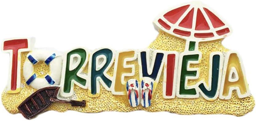 3D Torrevieja España Nevera Imán de Nevera Recuerdos Turísticos Hecho A Mano de Resina Artesanía Pegatinas Magnéticas Inicio Cocina Decoración Regalo de Viaje: Amazon.es: Hogar