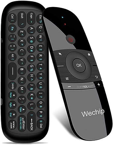Mini Aire ratón inalámbrico de 2,4 G Smart TV wechip Teclado Fly ratón W1 Multifuncional Infrarrojos Mando a Distancia para Android TV Box/PC/Smart TV /proyector/HTPC/PC/TV: Amazon.es: Electrónica