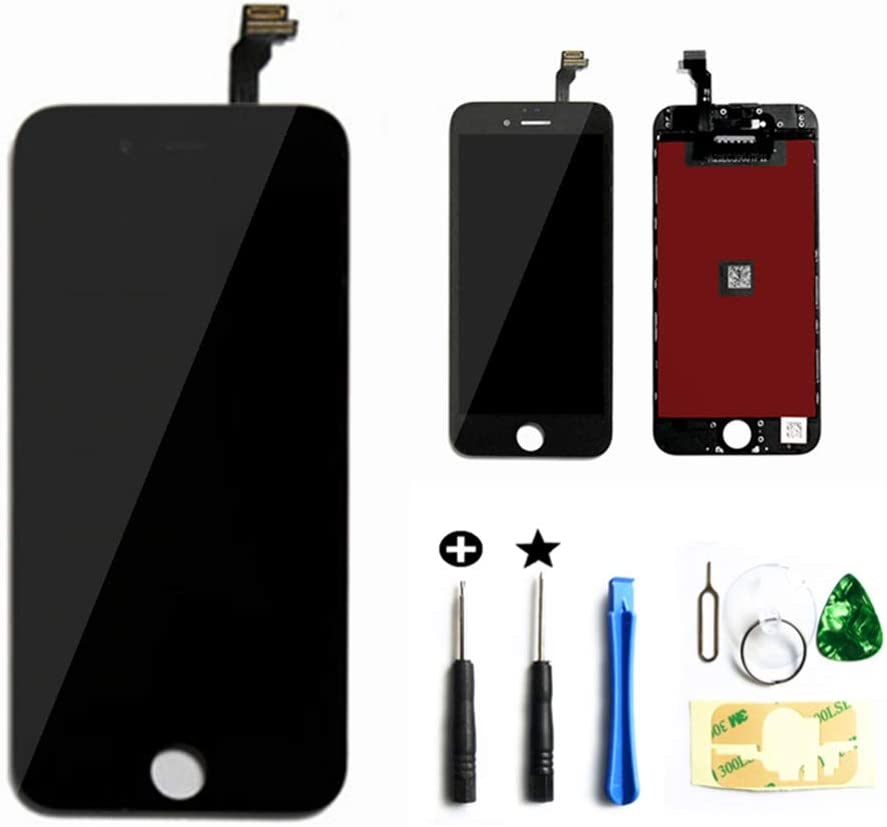 Master Screen for iPhone 6 (4.7 inch) Screen Replacement LCD Digitizer Replacement Frame Display Assembly Set(Free Tools Included)(Black)