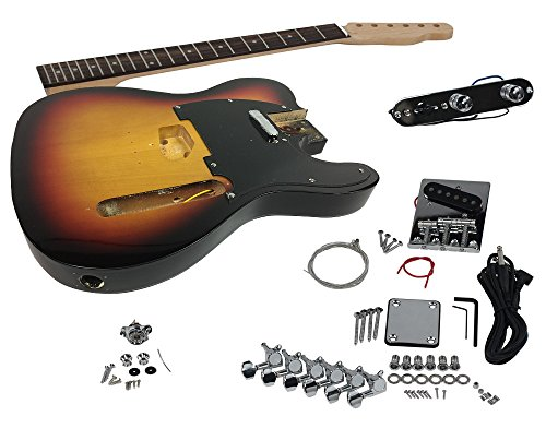 Solo TCK-1SB DIY Electric Guitar Kit With Sunburst Body
