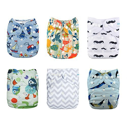 Babygoal Baby Cloth Diapers Reusable Washable