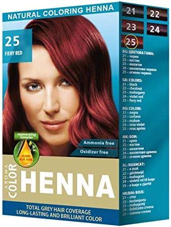 Aroma Color henna natural, color rojo, 30 g: Amazon.es: Belleza