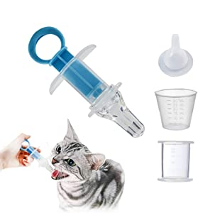 Pet Pill Popper Soft Tip Plastic Syringe for Pet Feeding Oral Syringe and Medicine Dropper Pet Liquid Feeding Kit for Cats Dogs Small Animals