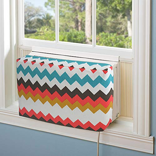 Jeacent Indoor Air Conditioner Cover Double Insulation, Colorful Wave Medium