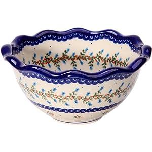 Polish Pottery Ceramika Boleslawiec 0413/166 5-3/4-Cup Bowl Fala, Small
